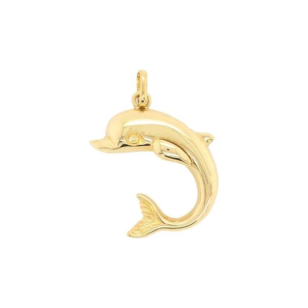 Anhänger Delfin 585 Gold E10956