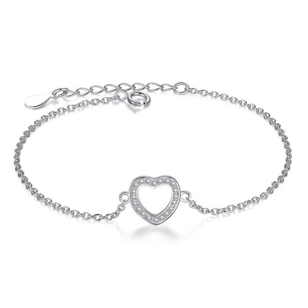 Armband 925 Silber Herz 106046