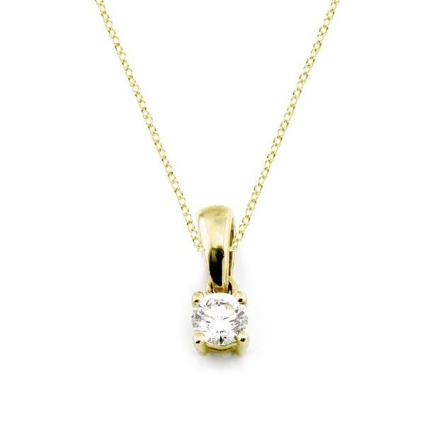 Diamant Anhänger 0,15ct. 585 Gelbgold