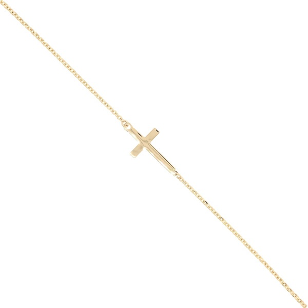 E11131 - Armband Kreuz 585 Gold