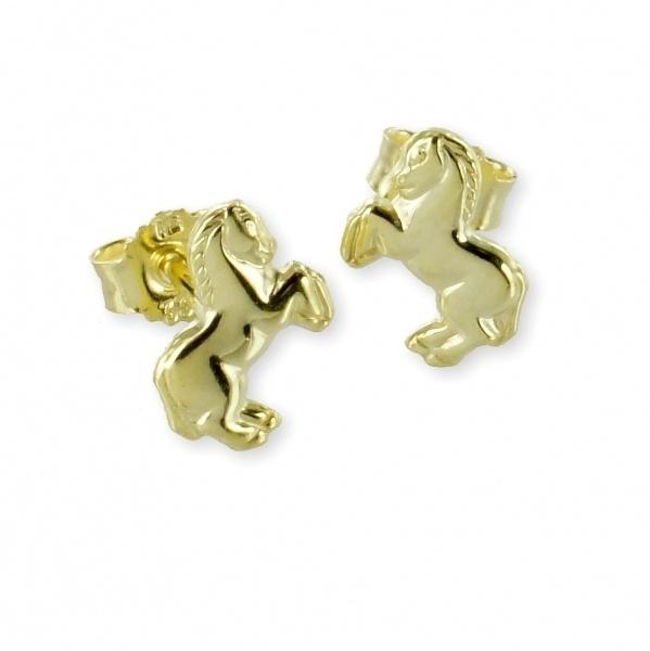 Ohrstecker 333 Gold Pferd 1356
