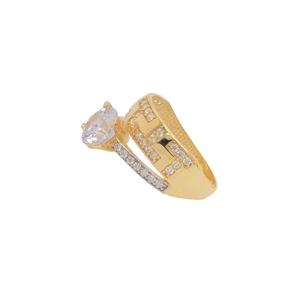 Damenring Fusion 585 Gold mit Zirkonia E10966