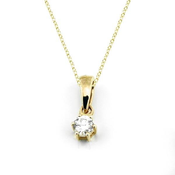 Diamant Anhänger 0,10ct. 585 Gelbgold