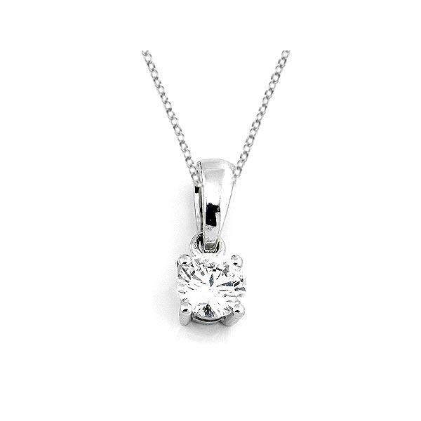 Diamant Anhänger 0,25ct. 585 Weißgold