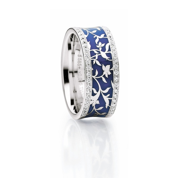 Diamantring Elise blau 25-37561