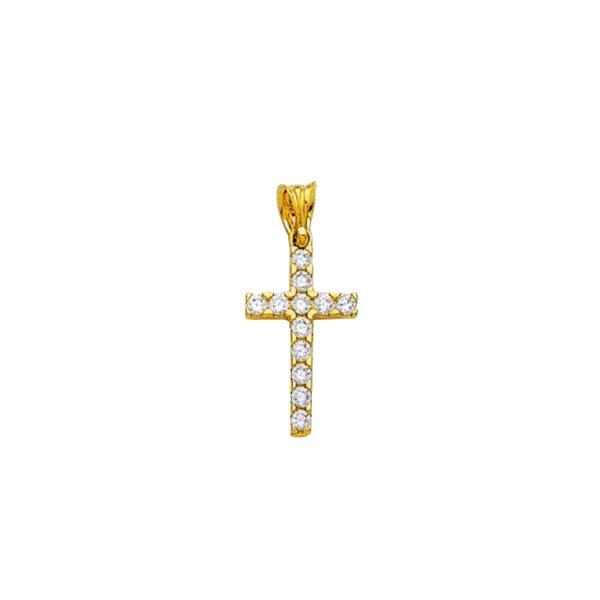 Anhänger Kreuz 585 Gold E10406