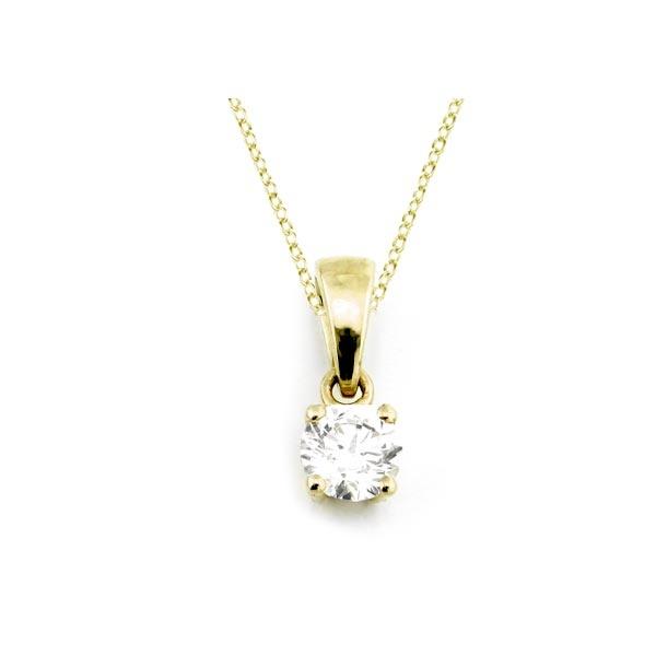 Diamant Anhänger 0,25ct. 585 Gelbgold