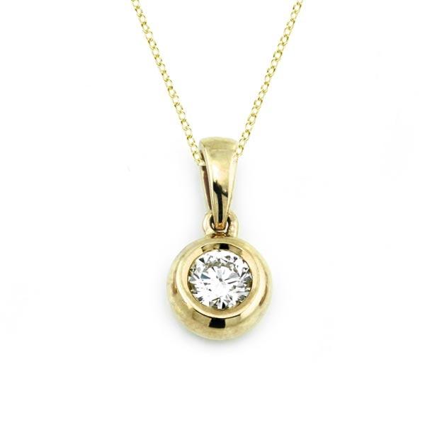 Diamant Anhänger 0,20ct. 585 Gelbgold