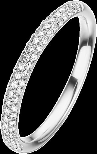 Memoire Ring 950 Platin mit Diamanten E10465