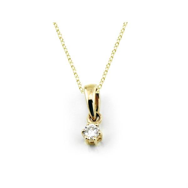 Diamant Anhänger 0,05ct. 585 Gelbgold