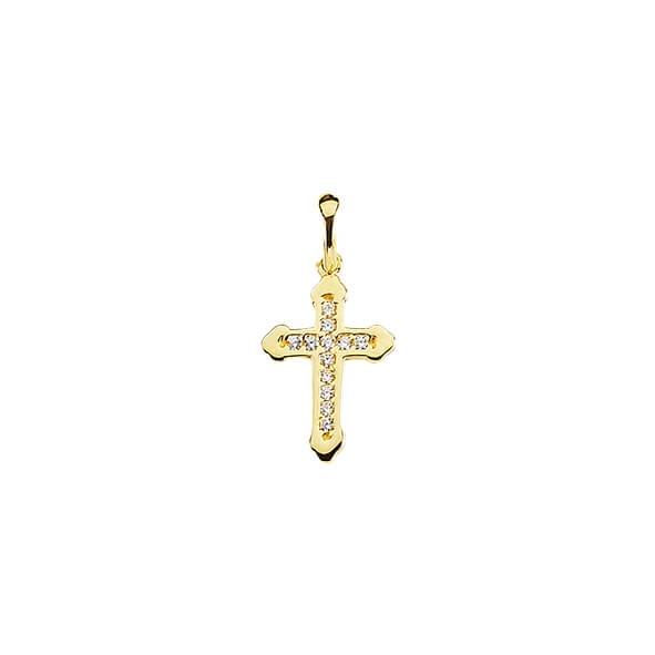 Anhänger Kreuz 585 Gold E10372