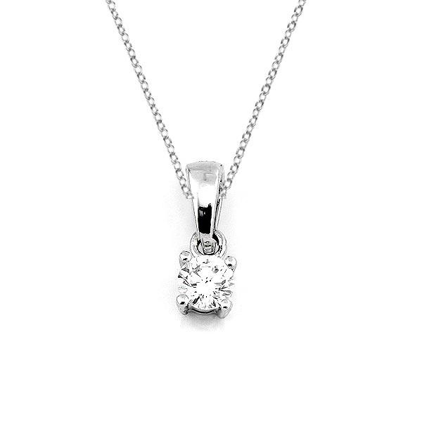 Diamant Anhänger 0,15ct. 585 Weißgold