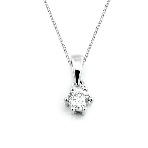 Diamant Anhänger 0,20ct. 585 Weißgold