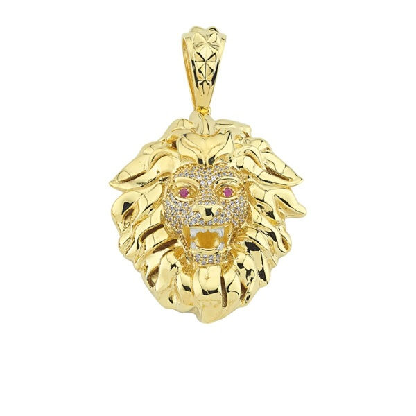 Anhänger Löwenkopf 585 Gold E10407