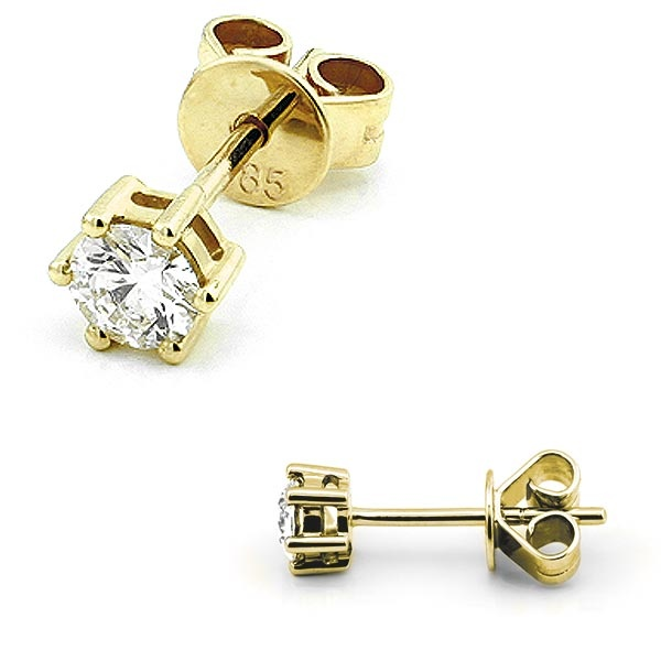 Solitaire Ohrstecker 0,40ct. 585 Gelbgold B02-G40