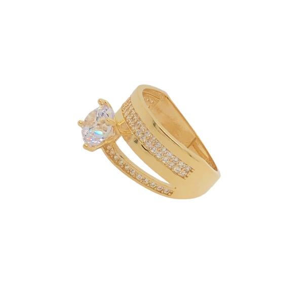 Damenring Fusion 585 Gold mit Zirkonia E10968