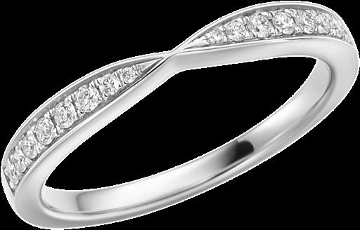 Memoire Ring 950 Platin mit Diamanten E10462
