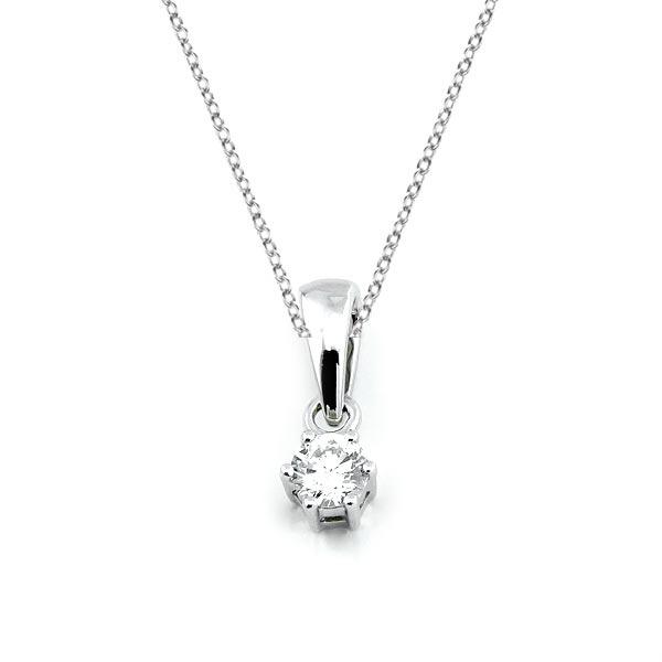 Diamant Anhänger 0,10ct. 585 Weißgold