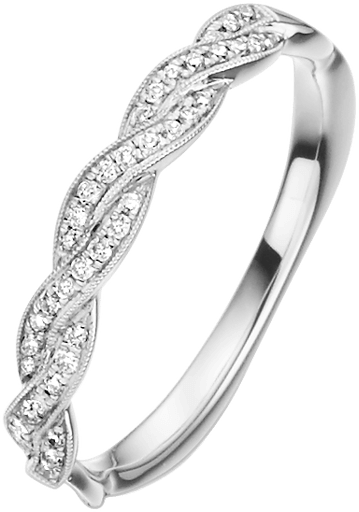 Memoire Ring 950 Platin mit Diamanten E10463