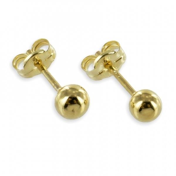Ohrstecker 333 Gold Kugel 3091