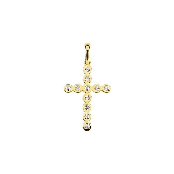 Anhänger Kreuz 585 Gold E10377