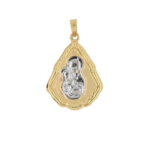 Anhänger Mutter Maria mit Christkind 585 Gold E10994