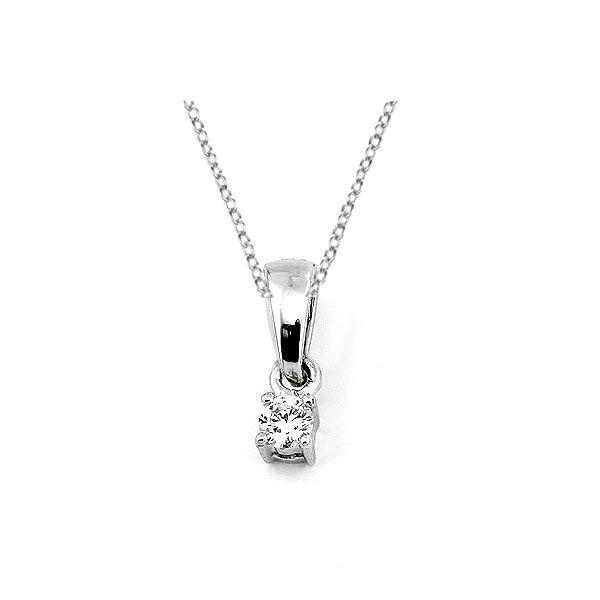 Diamant Anhänger 0,05ct. 585 Weißgold