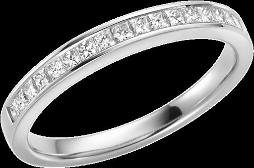 Memoire Ring 950 Platin mit Diamanten E10464